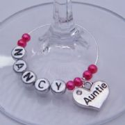Auntie Personalised Wine Glass Charm